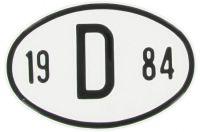 Landesplakette aus Aluminium D 1984
