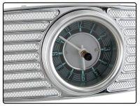 Lautsprecherabdeckung Chrome mit Uhr