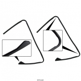 Eckfensterglasdichtung (Paar)