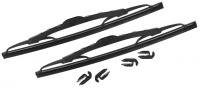 Scheibenwischerblätter Schwarz (Paar)