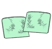 Türfenster grün getönt (Paar)