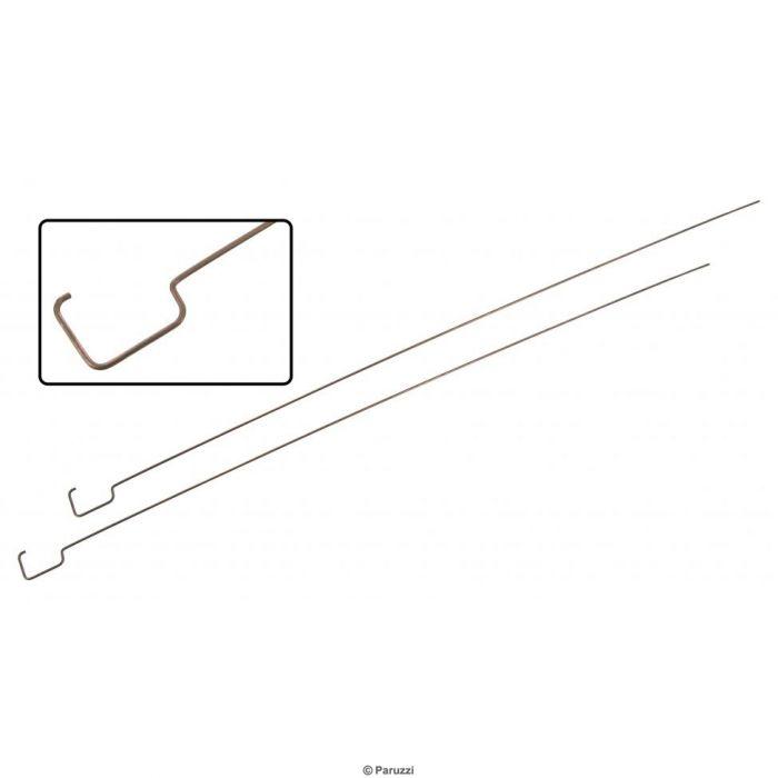 Zug der hinteren Fußraumheizungsklappe (Paar)