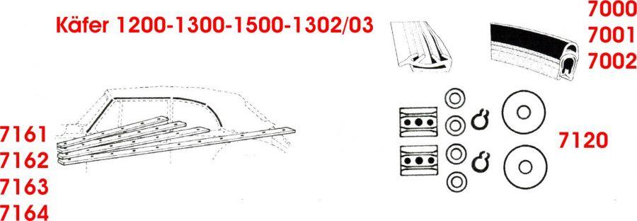 Käfer 1200-1300-1500-1302 03 Cabrio Teil 2