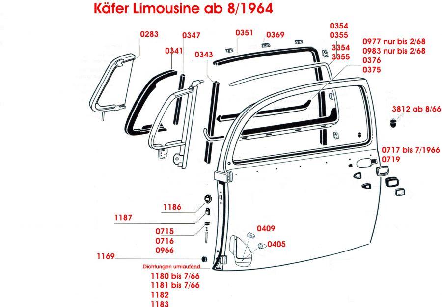 Käfer Limousine ab 8/1964