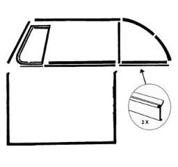 Kurbelfensterdichtleiste Seitenteil hinten außen (Paar)