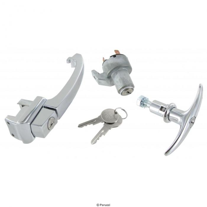 Türgriffset mit einem Schlüssel (Set)