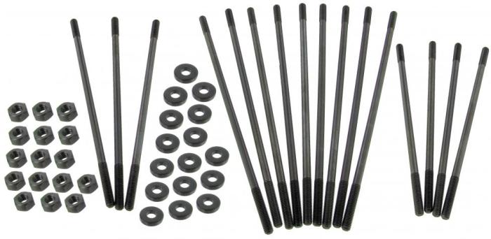 Chromoly case stud kit extra long (+ 13 mm) M8