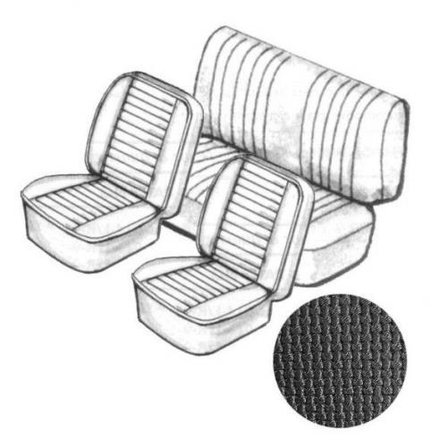 CABRIO! Sitzbezugset schwarz, grobmaschig  VW Käfer