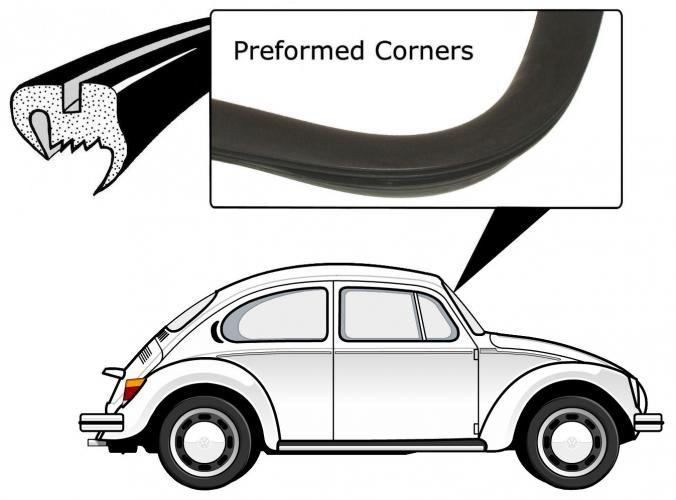vorgeformte dichtungen frontscheibe vw k fer ersatzteile. Black Bedroom Furniture Sets. Home Design Ideas