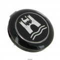 Hupenknopf Emblem silber
