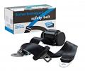 Sicherheitsgurt Extra Lang, schwarz mit Anbausatz für vorne