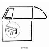 Gummiabdichtung Türe/Seitenfenster (Paar)
