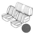 CABRIO! Sitzbezugset schwarz ohne Kopfteil , feinmaschig