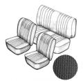 CABRIO! Sitzbezugset ohne Kopfteil schwarz, grobmaschig