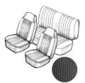Sitzbezugset schwarz mit Kopfteil , grobmaschig