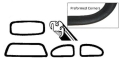 Window seal kit deluxe (with molding groove) 4 pieces