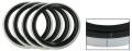 Weiß / Schwarze Reifenringe 16 Inch
