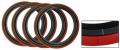 Rote Reifenringe 15 Inch