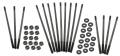 Chromoly case stud kit extra long (+ 13 mm) M10