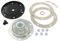 Sump plate kit with magnetic drain plug black