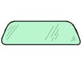 Frontscheibe grün getönt