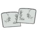 Türfenster grau getönt (Paar)