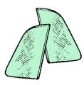 Dreiecksfenster grün getönt (Paar)