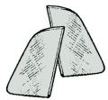 Dreiecksfenster grau getönt (Paar)