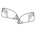 versenkbare Seitenfenster hinten klar (Paar)